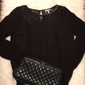 Joie Blouse with Lace Detail!